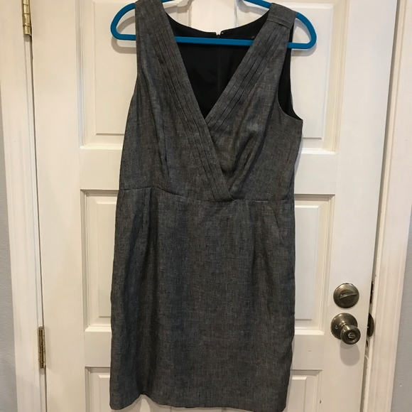 Banana Republic Dresses & Skirts - Banana Republic Black Gray Sheath Dress Linen 14